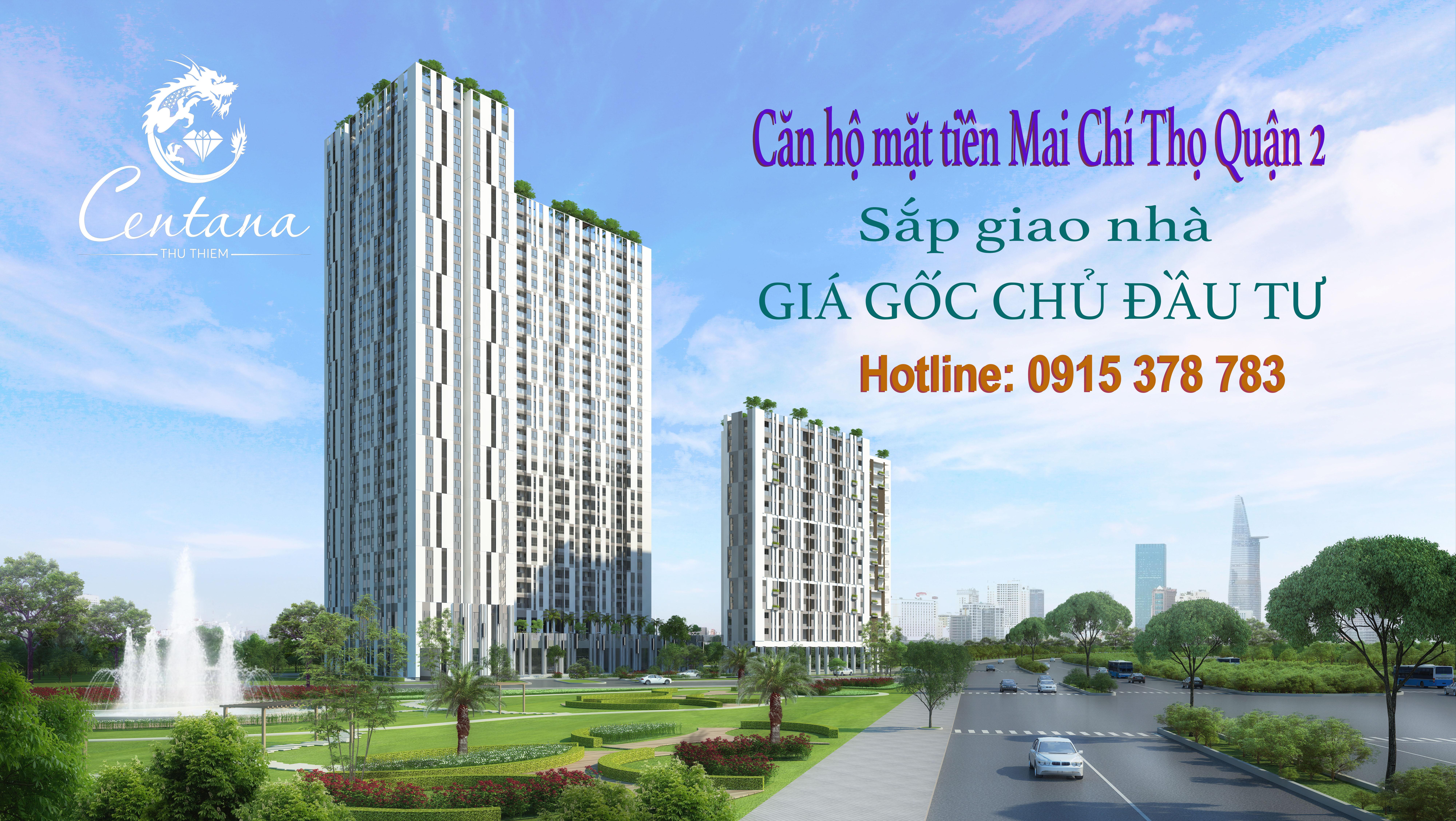 Căn hộ Centana Thủ Thiêm Q.2, sắp giao nhà, bán giá gốc chủ đầu tư